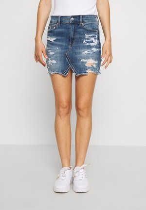 HI-RISE MINI SKIRT - Jeansskjørt - simply dark