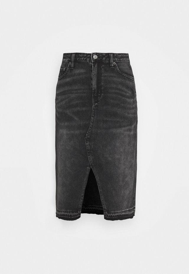 MIDI SKIRT - Pouzdrová sukně - black wash