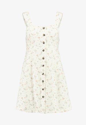 BUTTON FRONT MINI DRESS - Kjole - cream