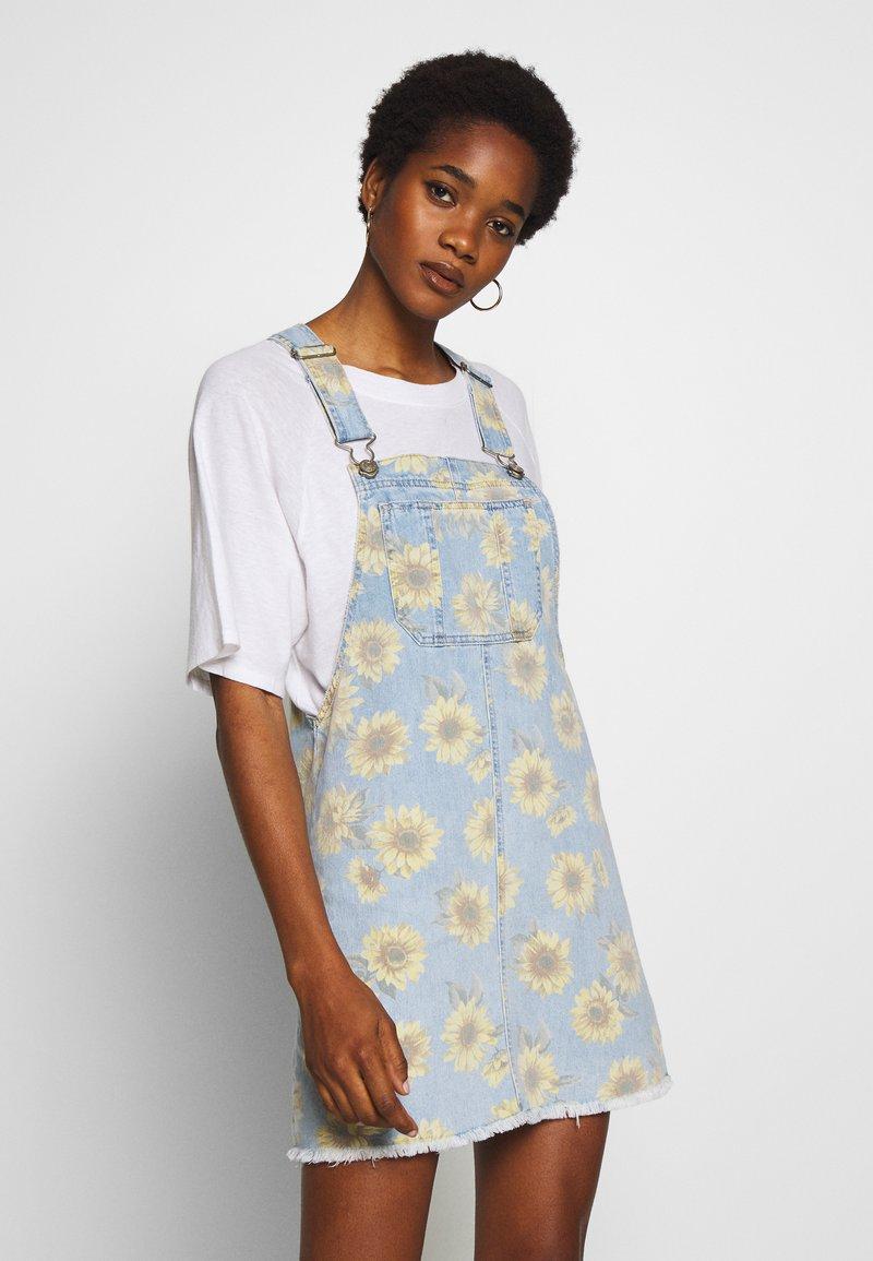 American Eagle - SUNFLOWER SKIRTALL - Denimové šaty - floral