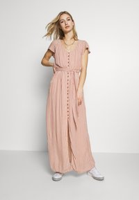 American Eagle - PLACKET FRONT BELTED MAXI - Robe longue - rust - 1