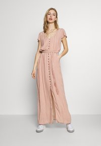 American Eagle - PLACKET FRONT BELTED MAXI - Robe longue - rust - 0