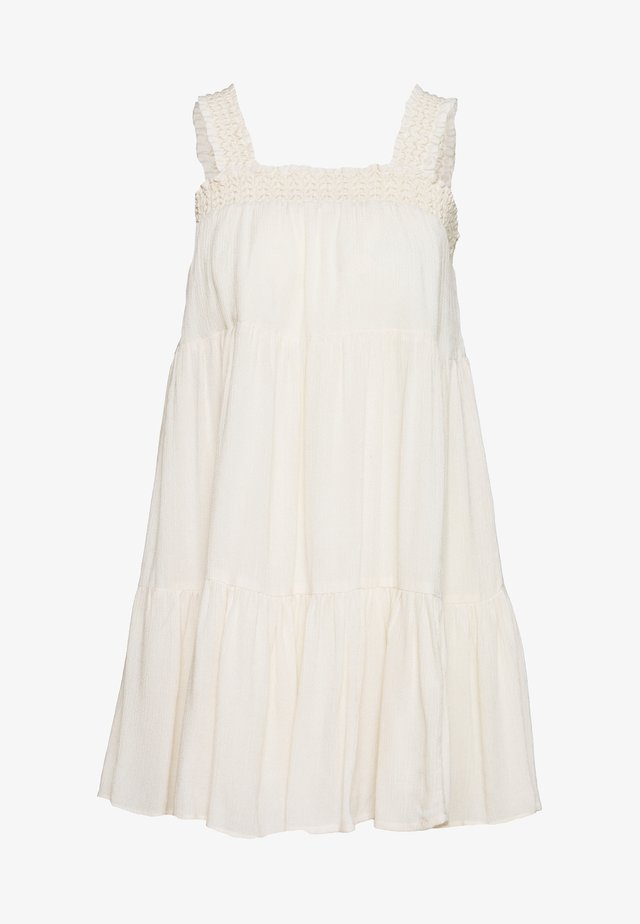 SMOCKED AND STRAP BABYDOLL - Vestido informal - cream