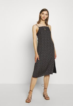 TIE BACK MIDI SLIP - Day dress - black