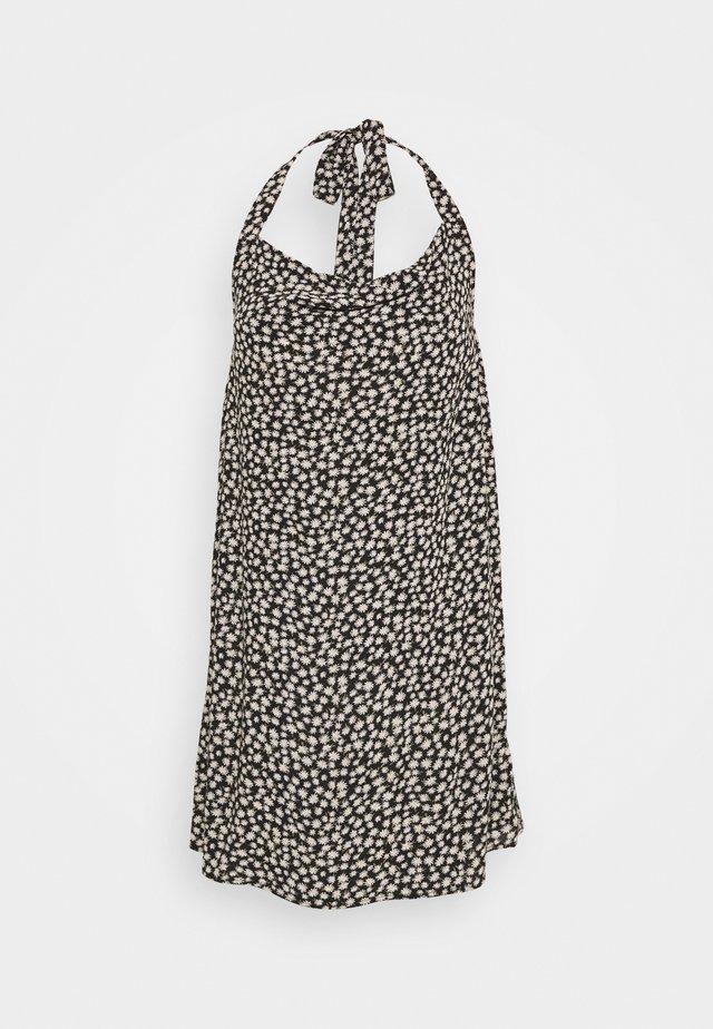 COWL SLIP DRESS - Korte jurk - black