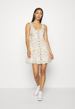 LINED TIE BACK MINI DRESS - Day dress - cream
