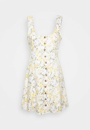 LINED TIE BACK MINI DRESS - Day dress - cream