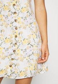 American Eagle - LINED TIE BACK MINI DRESS - Day dress - cream - 3