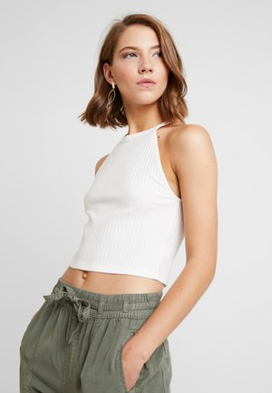 BASIC CROP SOLID - Toppi - natural white