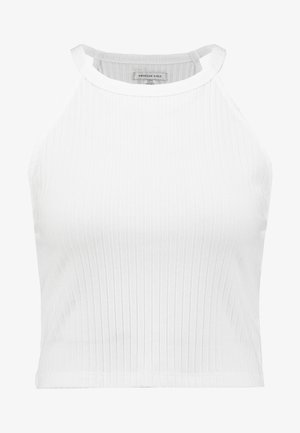 BASIC CROP SOLID - Top - natural white