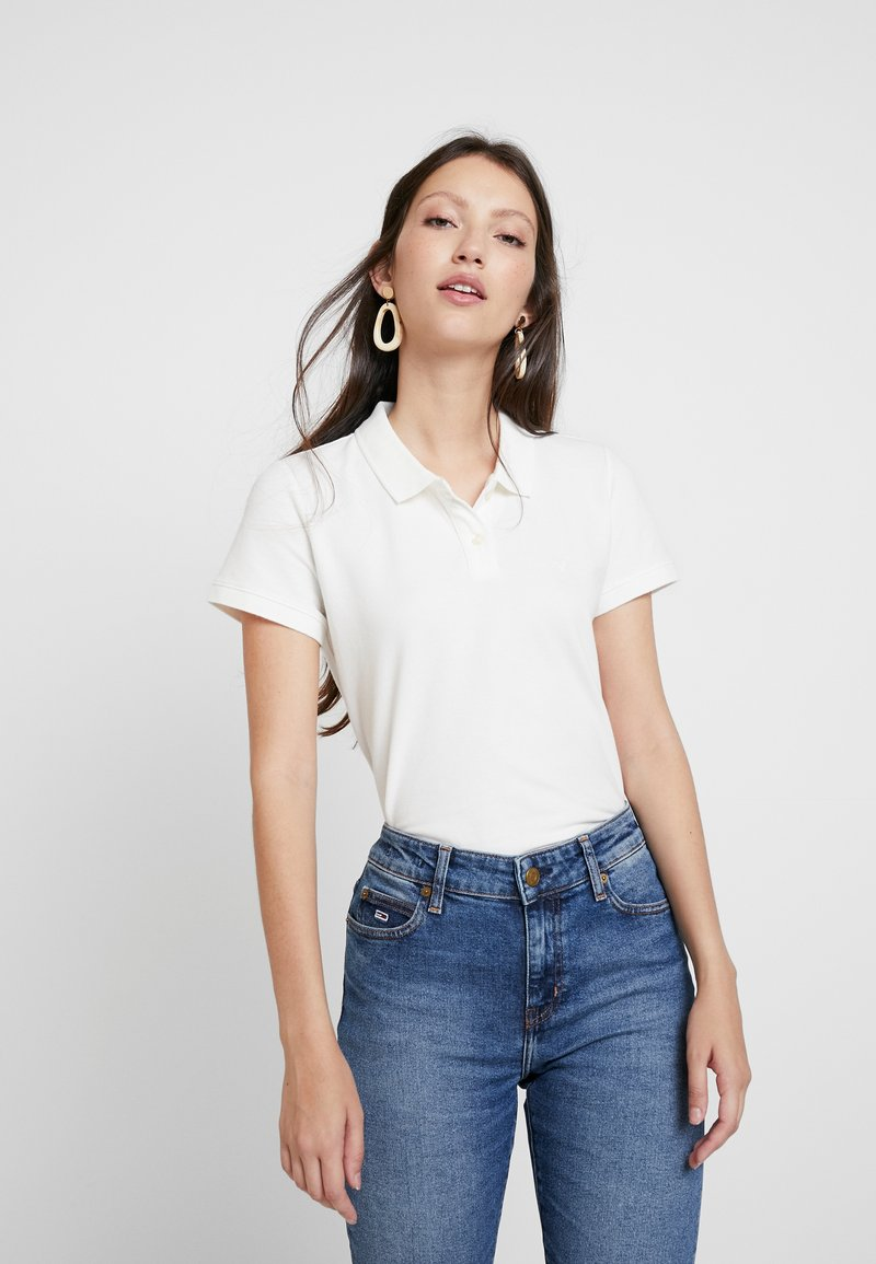 American Eagle - SOLIDS - Polo shirt - natural white