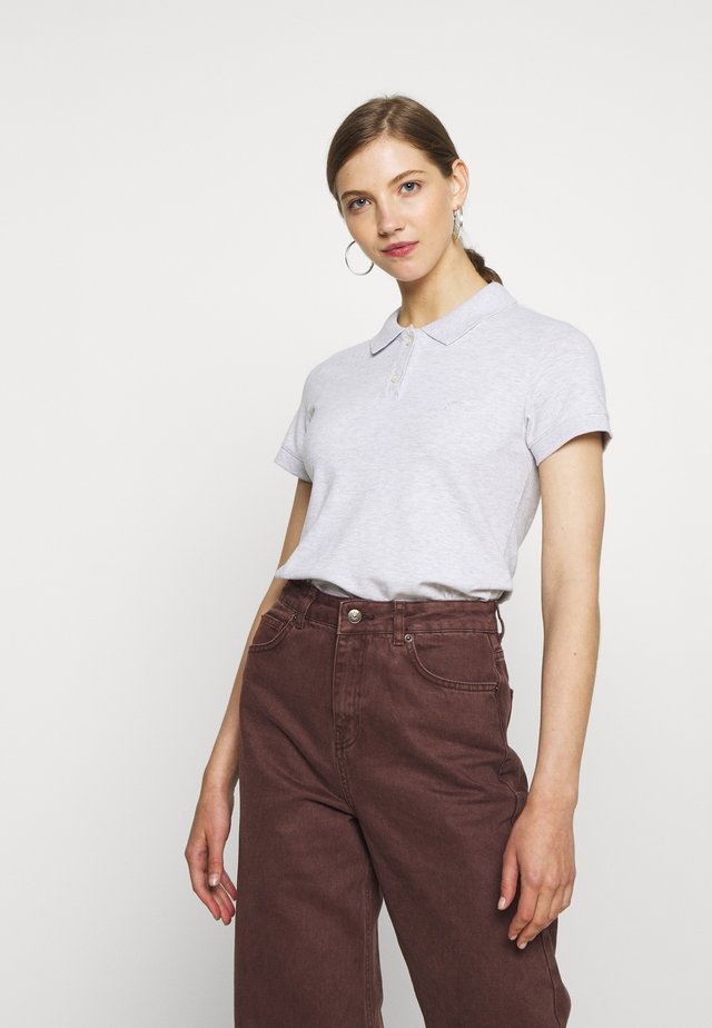 SOLIDS - Polo - heather gray