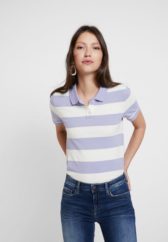 STRIPES - Poloshirt - washed blue