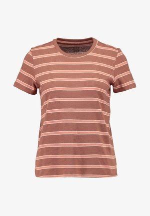 CREW BOY TEE FAVORITE STRIPES STORMI - T-shirts med print - brown