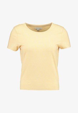 BASIC CREW BABY TEE GINGHAM - T-shirt print - yellow
