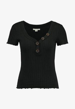 ASYM HENLEY - T-shirt med print - true black