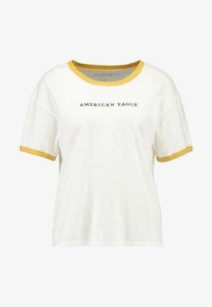 LOGO SANTA MONICA RINGER TEE - T-shirts med print - white
