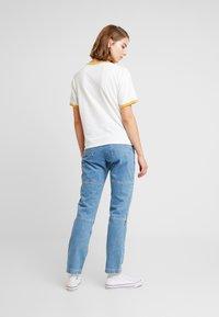 American Eagle - LOGO SANTA MONICA RINGER TEE - Print T-shirt - white - 2