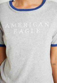 American Eagle - LOGO SANTA MONICA RINGER TEE - T-shirt imprimé - gray - 4