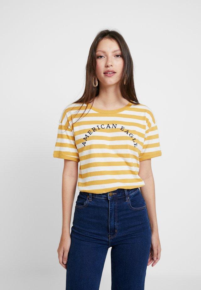 LOGO SANTA MONICA RINGER TEE - Print T-shirt - yellow
