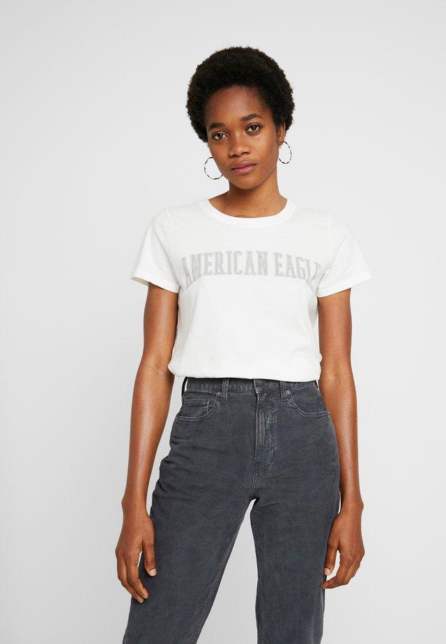 CLASSIC TEE - T-shirt z nadrukiem - cream
