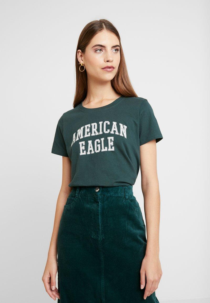 American Eagle - CLASSIC TEE - Triko spotiskem - green