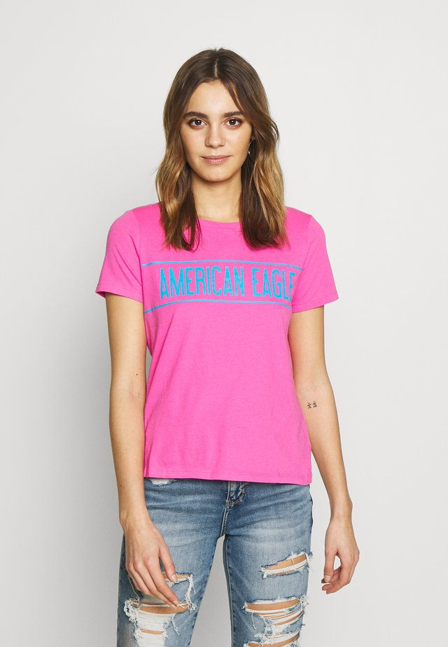 BRANDED HOT STORE TEE - T-shirt z nadrukiem - pink