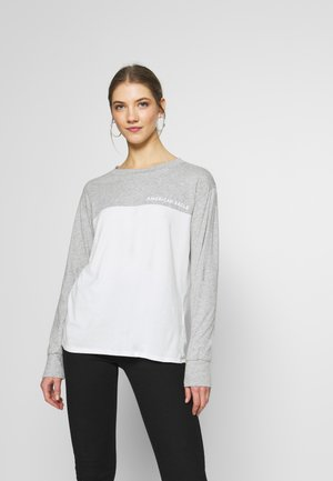 BRANDED COLORBLOCK URBAN TEE - T-shirt à manches longues - gray