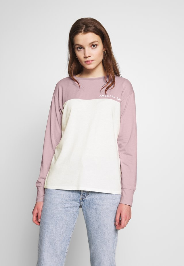 BRANDED COLORBLOCK URBAN TEE - Longsleeve - lively lilac