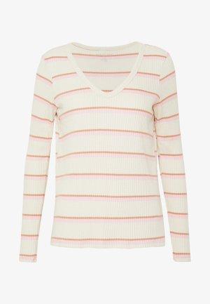 STRIPES - Long sleeved top - white