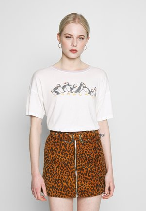 DINER OVERSIZE TEE WITH RINGER - Print T-shirt - cream