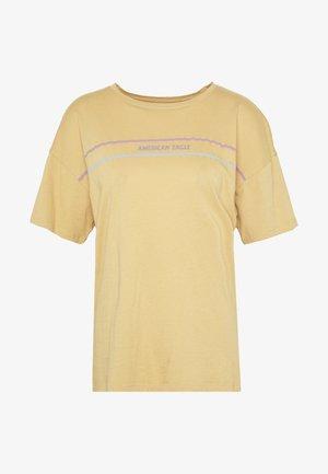 OVERSIZED TEE - Print T-shirt - golden