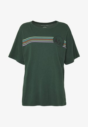 OVERSIZED TEE - T-shirts med print - green