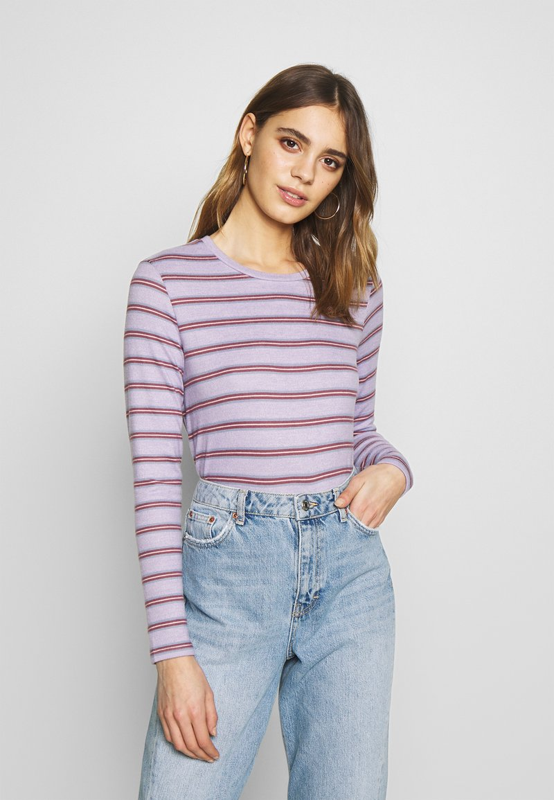 American Eagle - CREW TEE PLUSH - Topper langermet - lively lilac