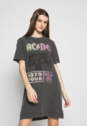 ACDC DRESS - Jersey dress - washed black