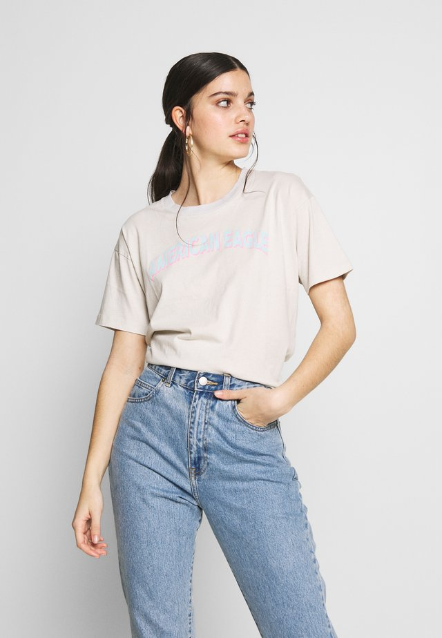 BRANDED MICKEY TEE - T-Shirt print - light faded gray
