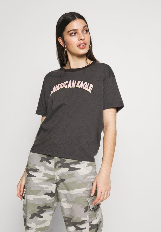 BRANDED MICKEY TEE - T-Shirt print - black charcoal