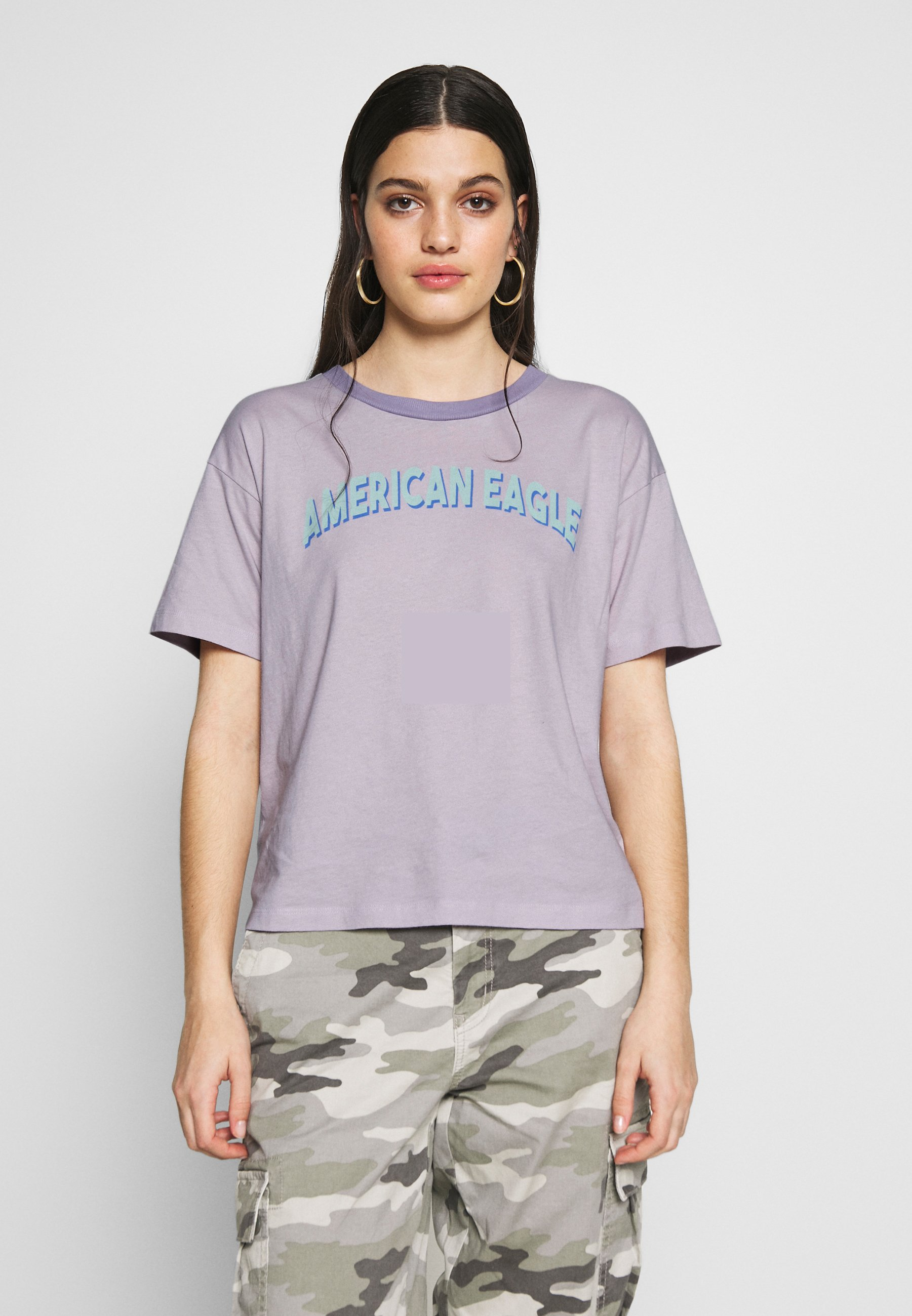 American Eagle BRANDED MICKEY TEE - T-shirts med print - lavender