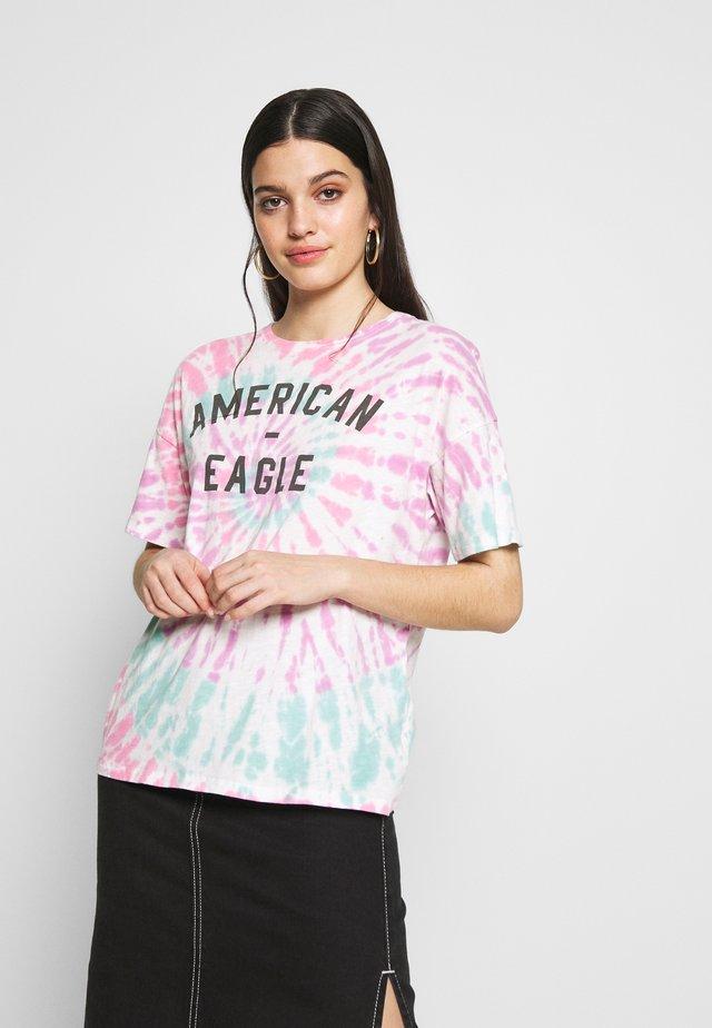 TIE DYE DINER TEE - T-shirt print - purple