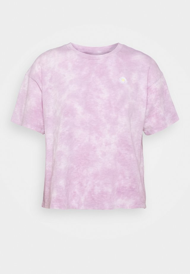 TIE DYE SPACE EMBROIDERY TOUR TEE - T-shirts med print - purple