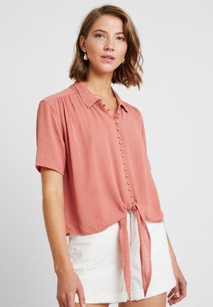 CORE MANY BUTTON - Button-down blouse - rust