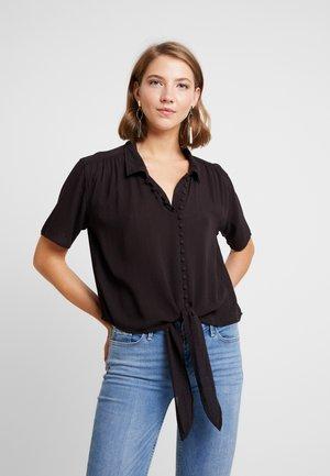 CORE MANY BUTTON - Button-down blouse - black