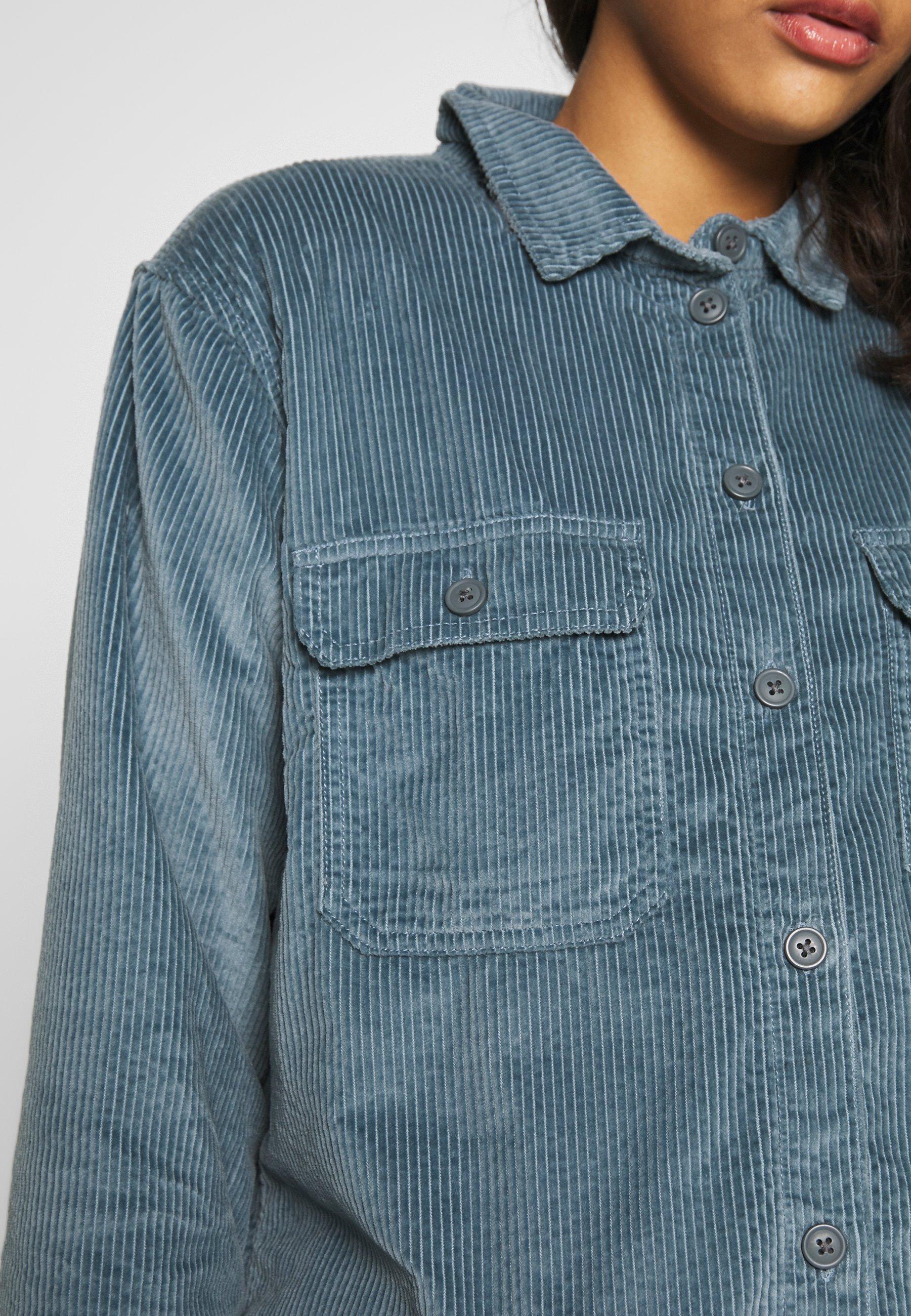 American Eagle CORE LINED PLUSH - Skjorte - blue