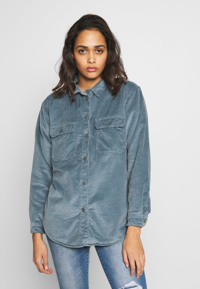 CORE LINED PLUSH - Button-down blouse - blue