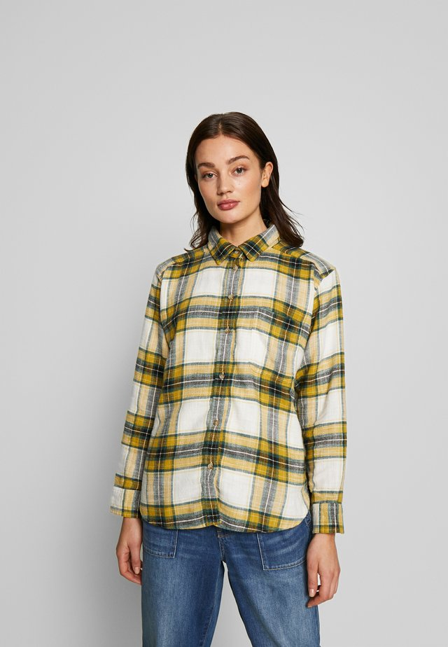 CORE CASUAL PLAID  - Button-down blouse - yellow