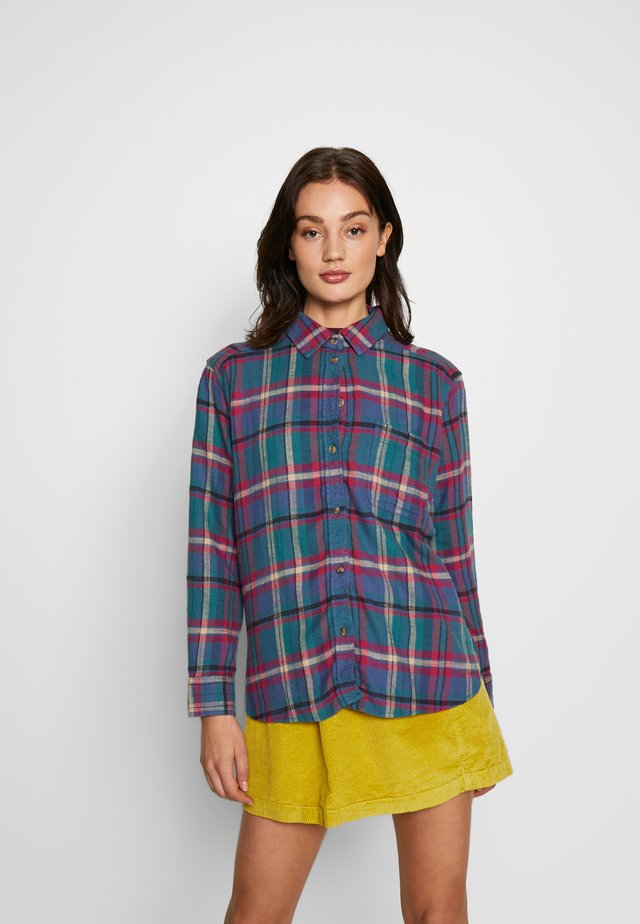 CORE CASUAL PLAID  - Button-down blouse - blue