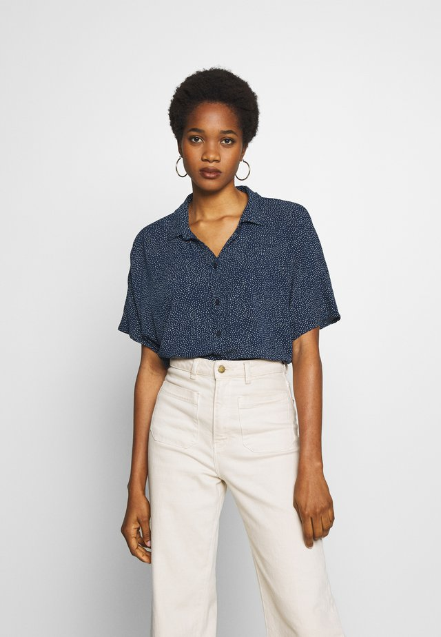 CORE CREPE  - Button-down blouse - navy
