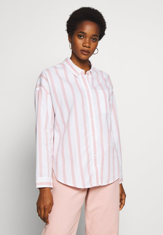 CORE CHINO STRIPE  - Button-down blouse - blush