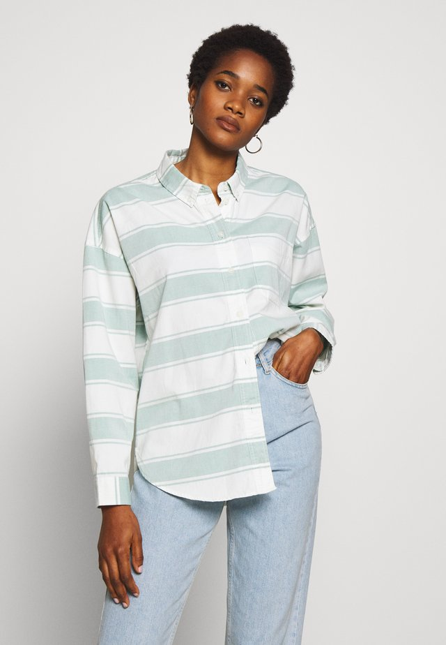 CORE CHINO STRIPE  - Button-down blouse - teal