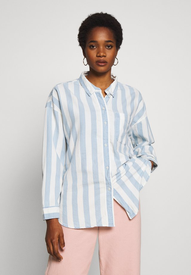 LIDO STRIPE - Button-down blouse - blue